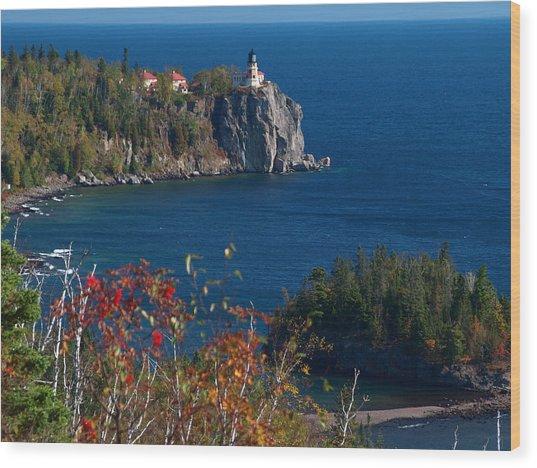 Cliffside Scenic Vista Wood Print
