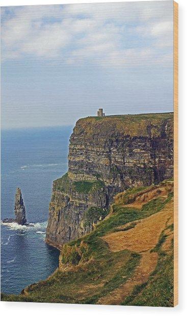 Cliffside Steeple Wood Print