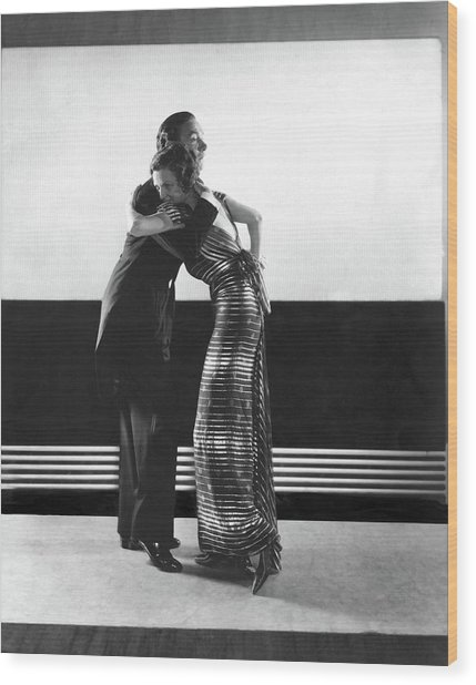 Clifton Webb And Irene Castle Dancing Wood Print by Edward Steichen