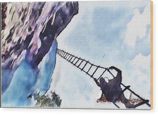 Climb Wood Print