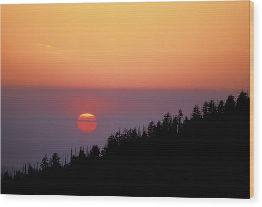 Clingman's Dome Sunset 02 Wood Print