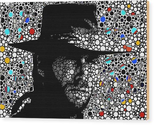 Clint Eastwood Cowboy Art Wood Print