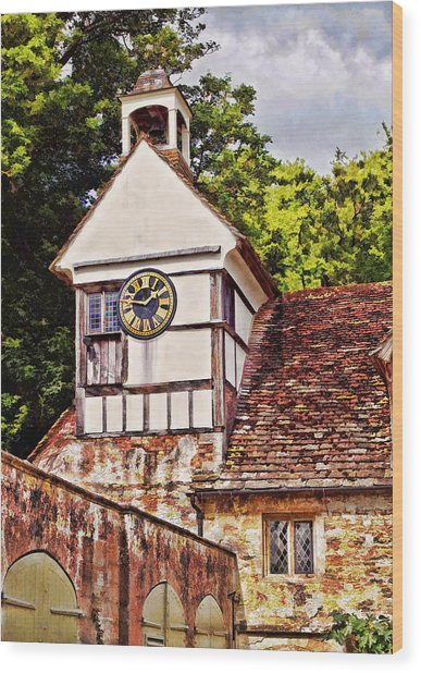Clock Tower - Lacock Abbey Wood Print