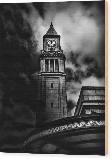 Clock Tower No 10 Scrivener Square Toronto Canada Wood Print