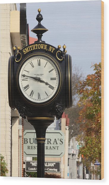 Clock Tower Smithtown New York Wood Print