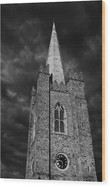 Clock Tower - St. Patrick's Cathedral - Dublin Wood Print