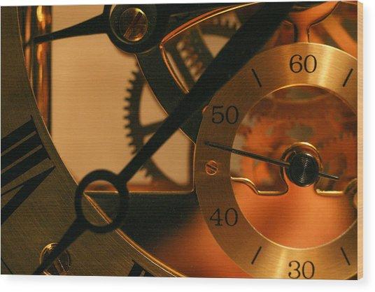 Clockwork Wood Print