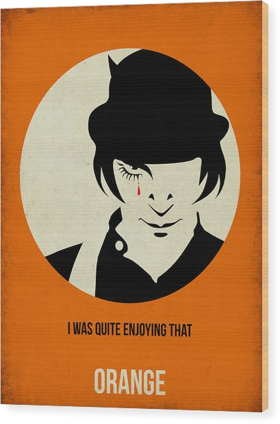 Clockwork Orange Poster Wood Print