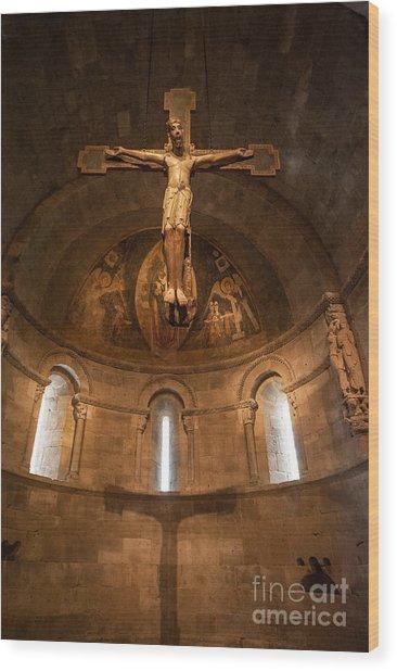 Cloisters Crucifixion Wood Print