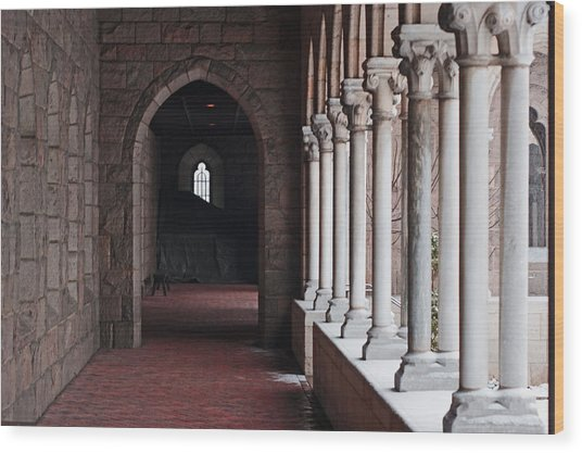 Cloisters Snow 5 Wood Print