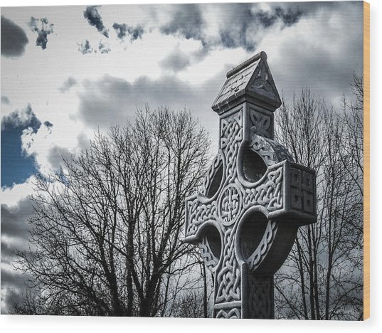 Clondegad Celtic Cross Wood Print