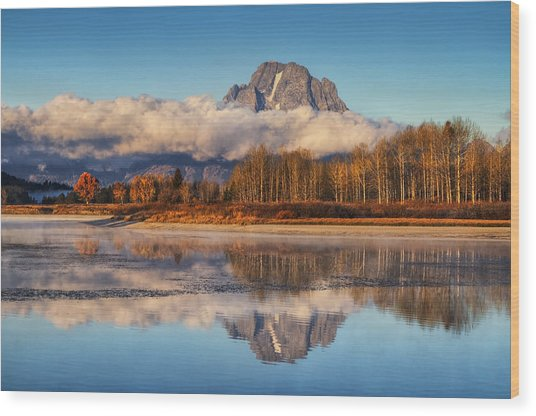 Close Of Autumn Wood Print
