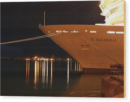 Close Up Cruise Liner At Cobh In Co. Cork Wood Print by Maeve O Connell