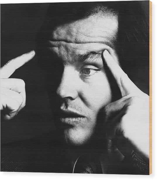 Close Up Of Jack Nicholson Wood Print