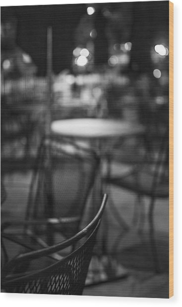 Closed Dining Wood Print by Michael Williams