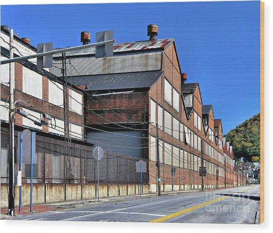 Closed Steel Mill Wood Print