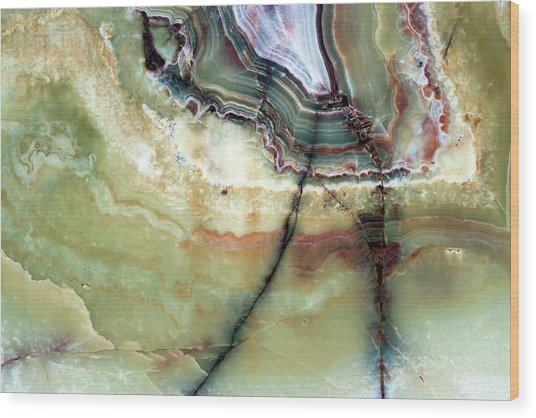 Closeup Beautiful Marble Background Wood Print