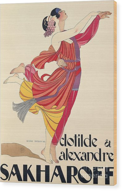Clotilde And Alexandre Sakharoff Wood Print