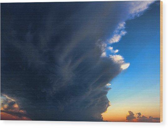 Cloud 20130330-60 Wood Print by Carolyn Fletcher