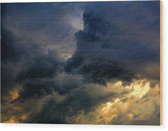 Cloud 20130426-31 Wood Print by Carolyn Fletcher