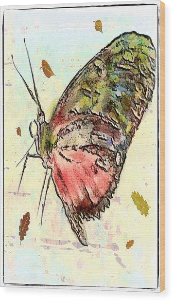 Cloud Butterfly Wood Print by Jill Balsam