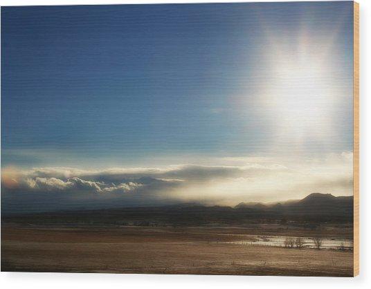 Cloud Cascades Wood Print