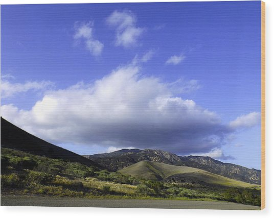 Cloud Cover Wood Print