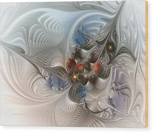 Cloud Cuckoo Land-fractal Art Wood Print