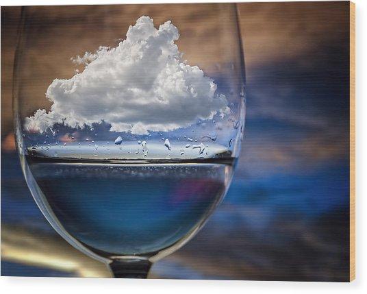 Cloud In A Glass Wood Print