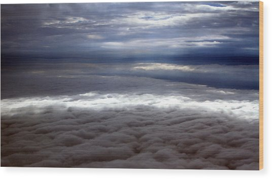Cloud Layers 1 Wood Print by Maxwell Amaro