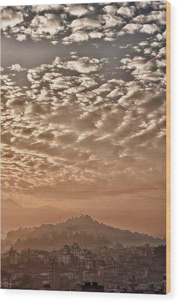 Cloud Over Kathmandu Wood Print