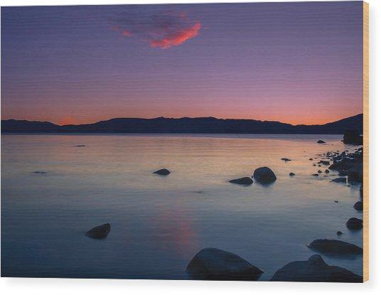 Cloud Reflection Before Sunrise Wood Print