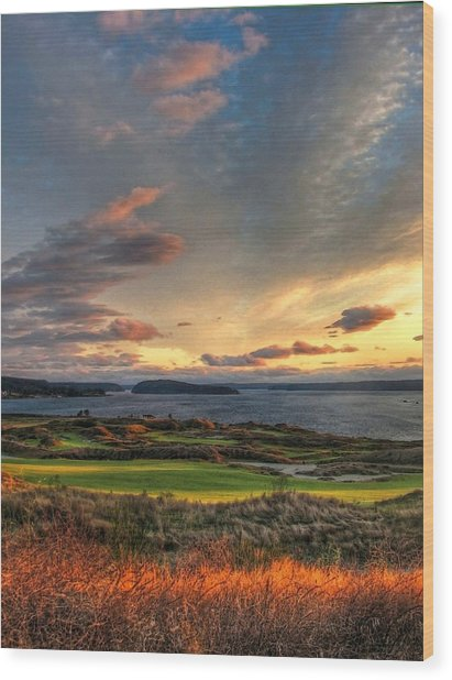Cloud Serenity - Chambers Bay Golf Course Wood Print