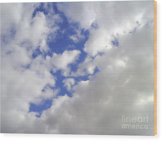 Cloud-shapes-2 Wood Print by Katerina Kostaki