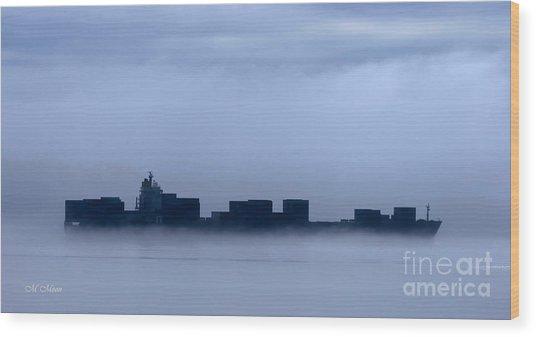 Cloud Ship Wood Print