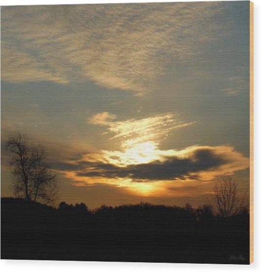Clouded Glory Wood Print