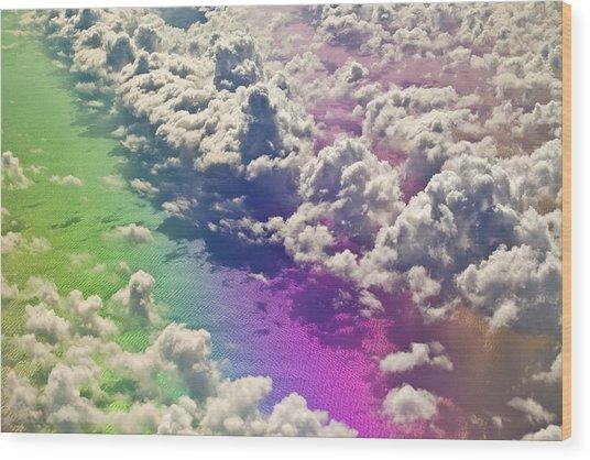 Clouds #1 Wood Print