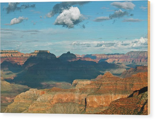 Clouds Above Grand Canyon, Mather Point Wood Print