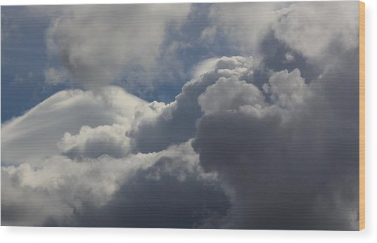 Clouds After The Storm Wood Print by Ron Romanosky