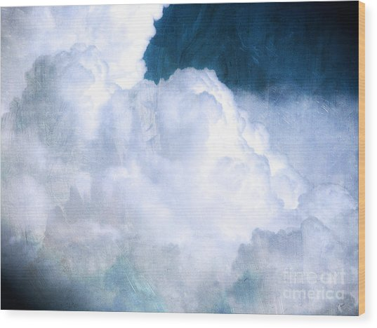 Clouds And Ice Wood Print