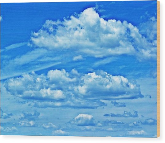 Clouds Wood Print by Dave Dresser