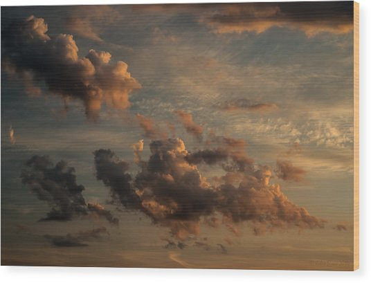 Clouds For Rembrandt Wood Print