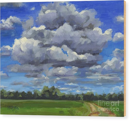 Clouds Got In My Way Sold Wood Print