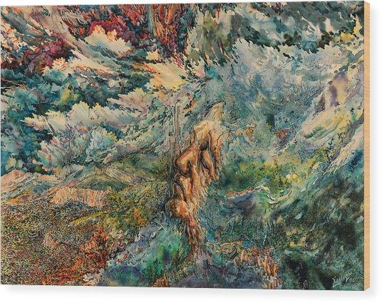 Clouds Wood Print