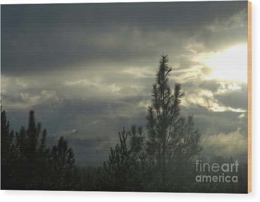 706p Clouds Wood Print