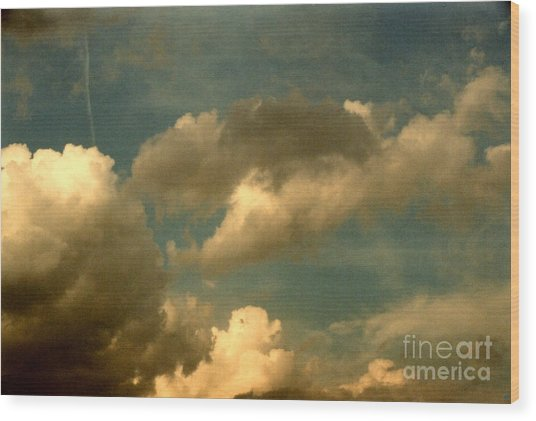 Clouds Of Yesterday Wood Print