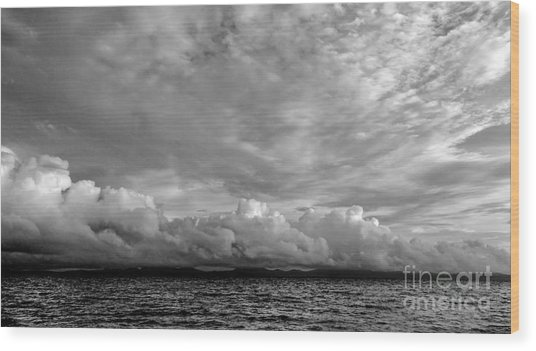 Clouds Over Alabat Island Wood Print