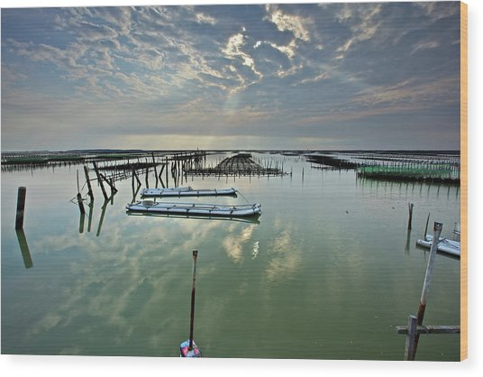 Clouds Over Chigu Lagoon Wood Print