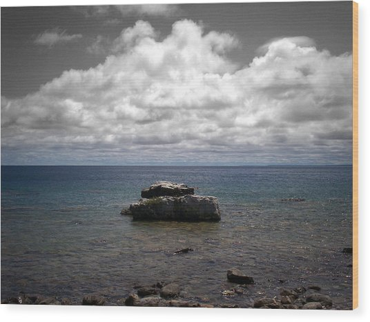 Clouds Over Georgian Bay - F2g Wood Print