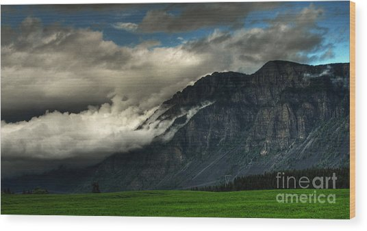 Clouds Over Goat Mountain Wood Print